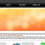 Simple Orange Black Free CSS Template