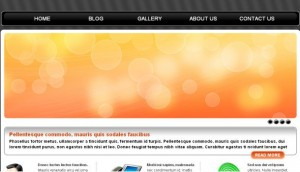 Simple Orange Black Free CSS Template