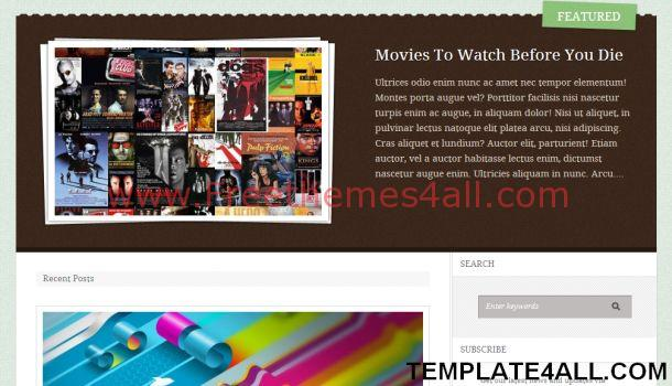 Business Portfolio Brown WordPress Theme
