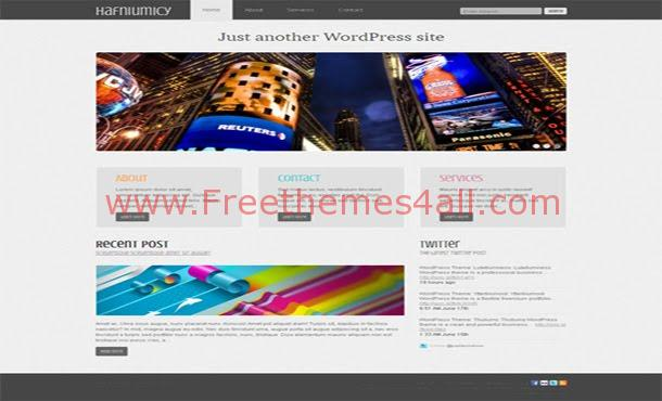 Free Business Portfolio Blue WordPress Theme
