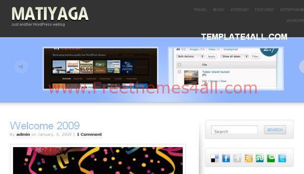 Free Premium Blue Wordpress Theme
