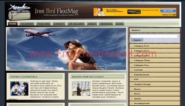 Free Brown Travel WordPress Theme