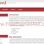 Wicked White Free Red CSS Template