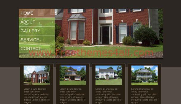 Free Real Estate Black Website Template