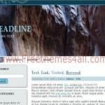Mountain Blue Wordpress Theme Download