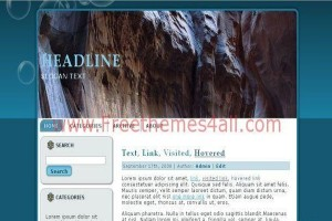 Mountain Blue Wordpress Theme Download