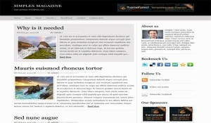 Free Black Magazine Wordpress Theme