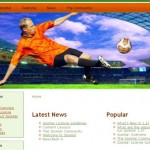 White Free Green Soccer Joomla Template