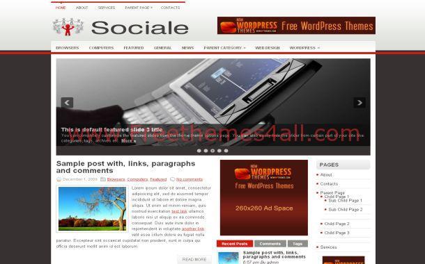 Social Business Free WordPress Theme Template