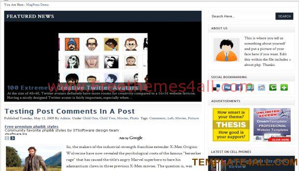 Blog Magazine Wordpress Theme