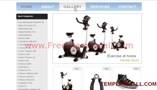 Simple Sport Store Jquery Website Template