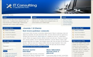Free Blue Tech Consulting Joomla Theme