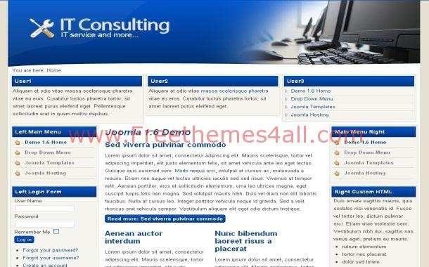 Blue Tech Consulting Joomla Theme