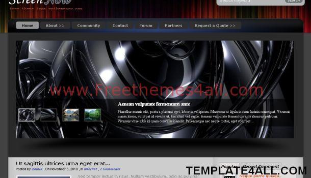Free Black Technology WordPress Theme