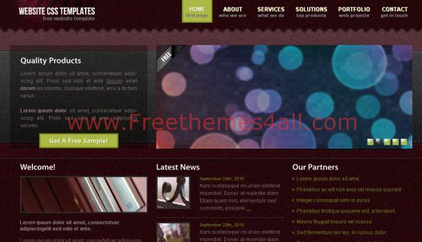 Free Business Brown CSS Jquery Template