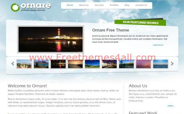 Free Sky Blue Green Travel Gallery CSS Template Download