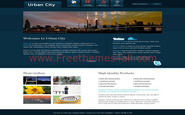 Free Urban Blue Website Template