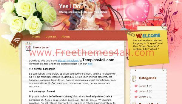 Pink Blogger Template
