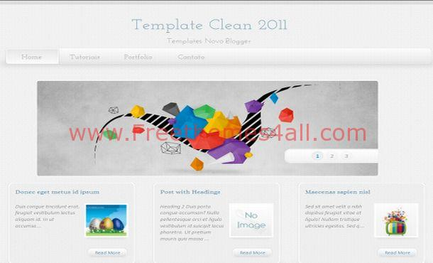 Free Vector Grunge Clean Blogger Layout