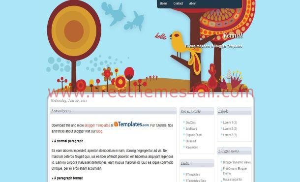 Free Blue Anime Blogger Layout Template