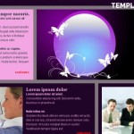 Free jQuery Pink Purple CSS Template