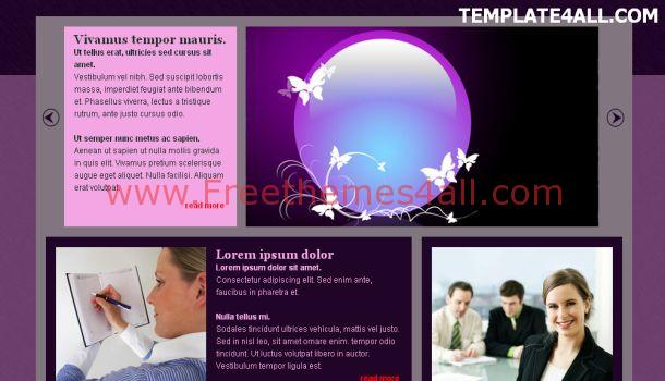 Free Jquery Pink Purple Css Template Download