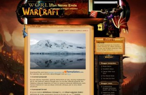 Games Warcraft Blogger Theme
