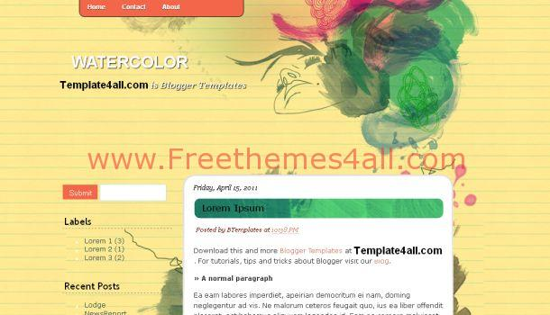 Light Colors Vector Grunge Blogger Template
