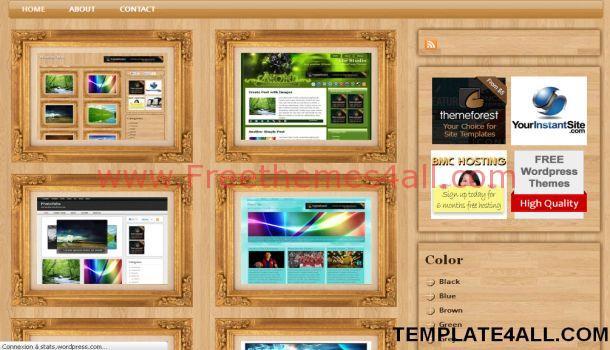 Amazing Grunge Wooden WordPress Theme