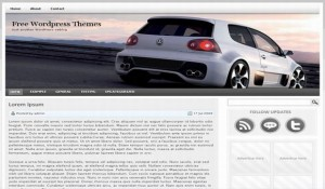 Volkswagen Golf GTI Free Wordpress Theme