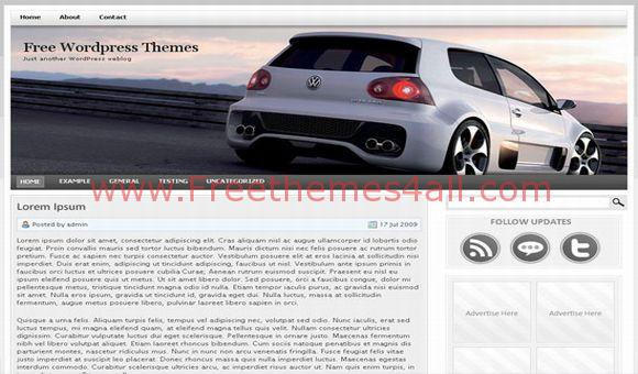 Volkswagen Golf GTI Free Wordpress Theme