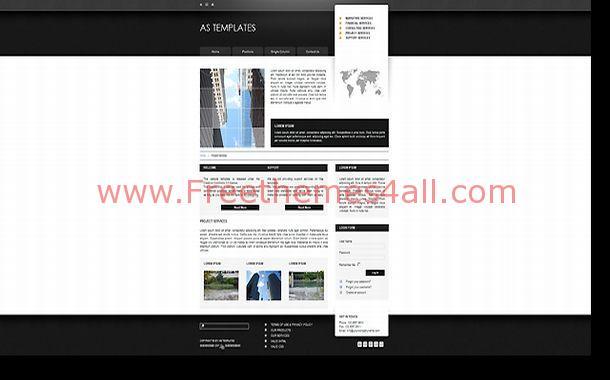 lawyer jquery black free joomla black chrome business joomla theme template