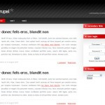Business Simple Drupal Red Black Theme