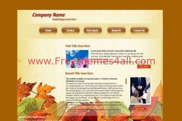 Autumn Flash Template Free Download