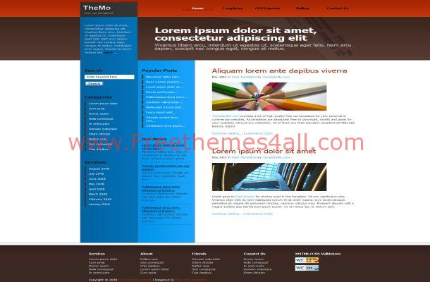 Ezine Articles Brown Free CSS Website Template