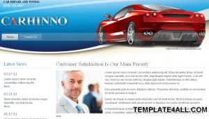 Blue Cars Tuning Joomla Theme Template