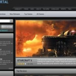 Online Black Games Portal CSS Template