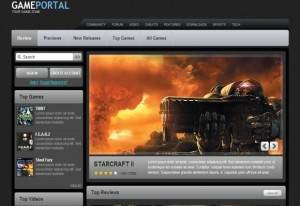 Online Black Games Portal CSS Template