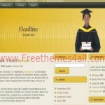 Free Brown Yellow Education Wordpress Theme