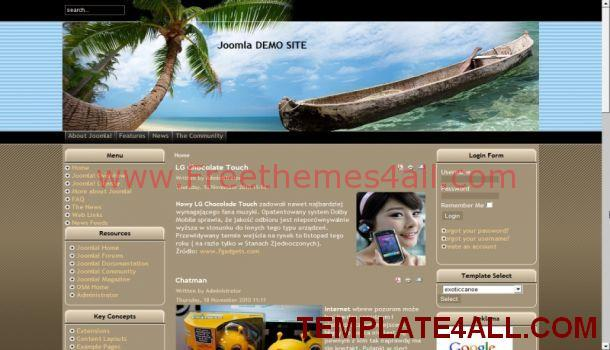 Brown Textures Exotic Joomla Template