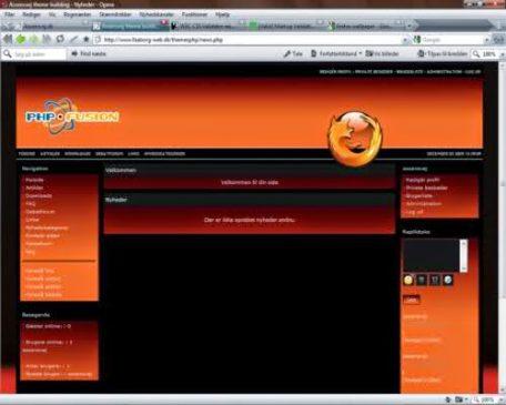 Free Red Orange Phpfusion Firefox Theme