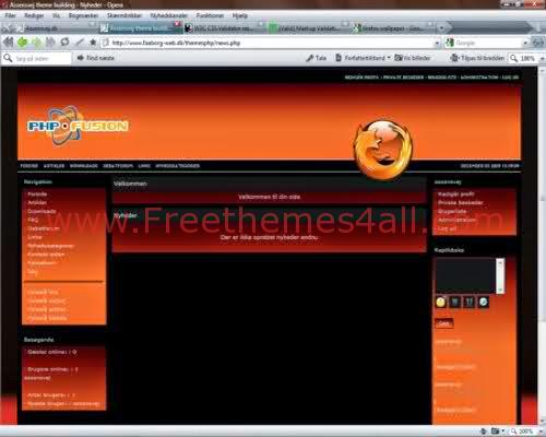Free Red Orange Phpfusion Firefox Theme