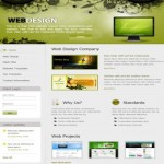 jQuery Green Floral HTML Website Template