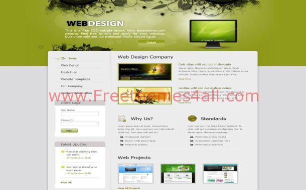 Floral Green Jquery HTML Website Template