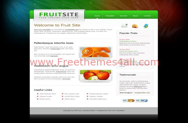 Free CSS Fruits Health HTML Website Template