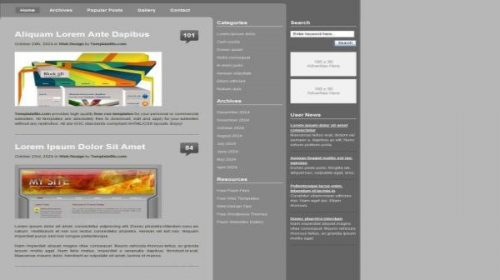 Business Gray CSS Website Template