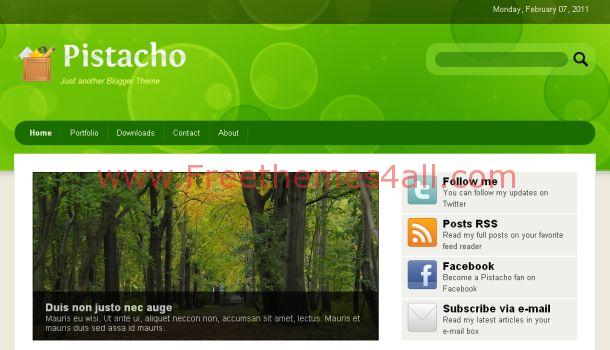 Free Pistacho Green Blogger Template