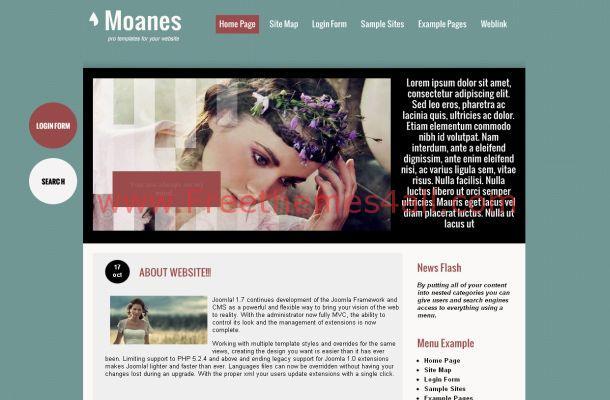 Free Joomla Green Wedding Business Theme Template