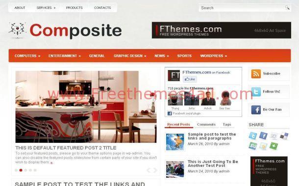 Free Orange Gray Office Furniture WordPress Theme