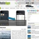 Free Iphone Green Magazine Blogger Template